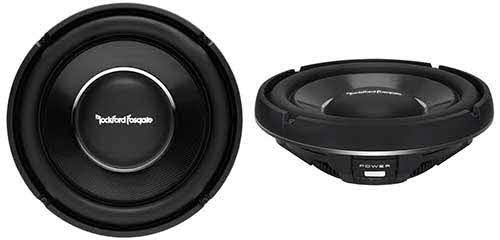 "ROCKFORD FOSGATE 12"" Slim Power T1 Single 2-Ohm Subwoofer"