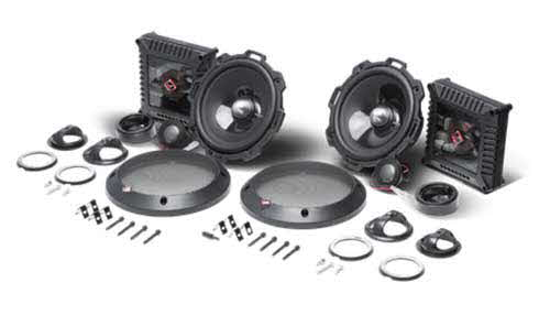 ROCKFORD FOSGATE 2-way component system featuring 1� aluminum dome tweeters and is rated at 75 Watts RMS. Kit includes pair or woofers with grilles, two tweeters with dedicated audiophile crossovers and mounting hardware