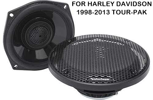 "ROCKFORD FOSGATE Power Harley-Davidson� 5.25"" Full Range Tour-Pak Speakers (1998-2013)"