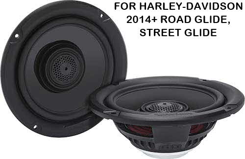 "ROCKFORD FOSGATE Power Harley-Davidson� 6.5"" Full Range Fairing/Tour-Pak Speakers (2014+)"