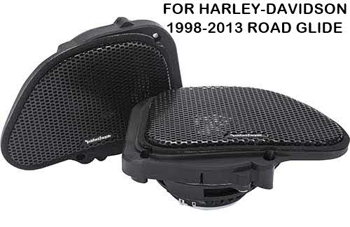 "ROCKFORD FOSGATE Power Harley-Davidson� Road Glide� 6.5"" Full Range Fairing Speakers (1998-2013)"