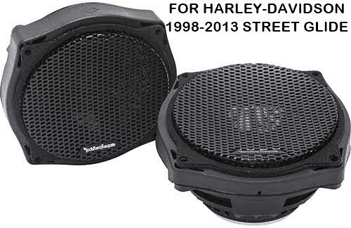 "ROCKFORD FOSGATE Power Harley-Davidson� Street Glide� 6.5"" Full Range Fairing Speakers (1998-2013)"