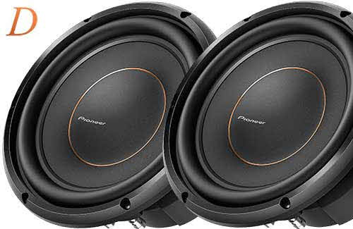 "PIONEER 10"" subwoofer with dual 4-ohm voice coils"