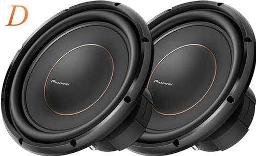 "PIONEER 12"" subwoofer with dual 4-ohm voice coils"