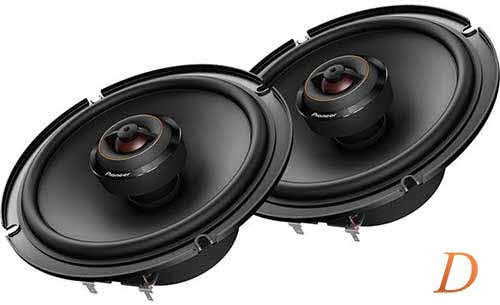 "PIONEER D Series 6-1/2"" 2-way car speakers"