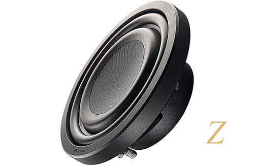 "PIONEER Z Series shallow-mount 10"" 2-ohm subwoofer"