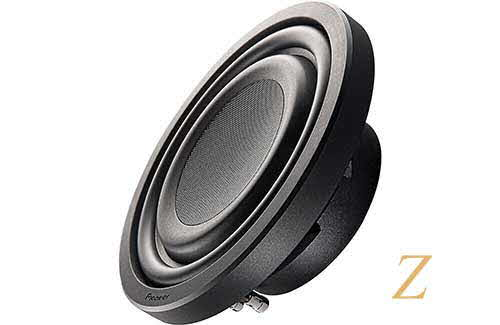 "PIONEER Z Series shallow-mount 10"" 4-ohm subwoofer"
