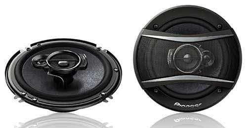 "PIONEER 320W 6-1/2"" 3-Way TSA Series Coaxial Car Speakers"