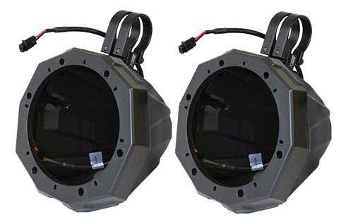 SSV Works Universal Cage Mount Pods Including Dual Clamps with 120 watt 6 1/2 Speakers