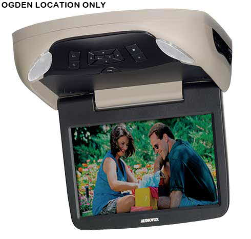AUDIOVOX 10.1-inch Hi-Def digital monitor with built-in DVD player and optional game port