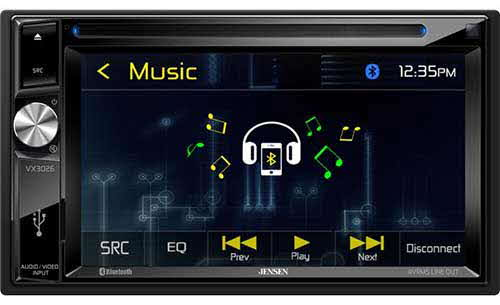 JENSEN A/V Receiver w/ DVD | Built-in Bluetooth Technology | USB | AV Input
