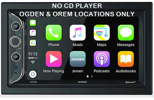 "JENSEN Double DIN Apple CarPlay Bluetooth In-Dash Digital Media Car Stereo Receiver w/ 6.2"" Touchscreen"