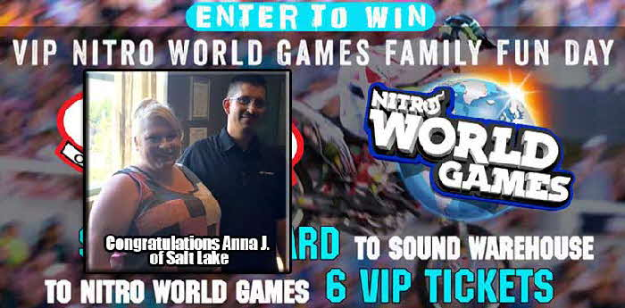 Congrats to Anna J. of Salt Lake City - Winner-Nitro-World-Games-Sweepstakes-2017