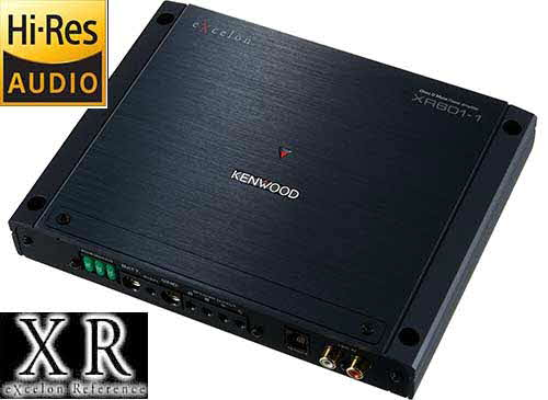 KENWOOD eXcelon Reference Series mono subwoofer amplifier with 600 watts RMS at 2 ohms