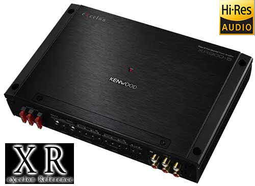 KENWOOD eXcelon Reference Series 5-channel car amplifier � 60 watts RMS x 4 at 4 ohms + 600 watts RMS x 1 at 2 ohms