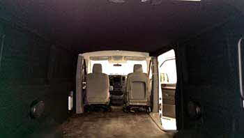 We completely carpeted the entire inside of 103.5 The Arrow's van and installed a receiver, speakers and outlets.
