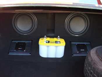 "1968 Buick Skylark. Installed a Kenwood Excelon AM/FM/CD Player with Kenwood Excelon 1500 watt mono amplifier and a 1200 watt 4-channel amplifier. Kenwood Excelon 6 1/2"" 2-way speakers. Custom built center console and custom fabricated trunk."