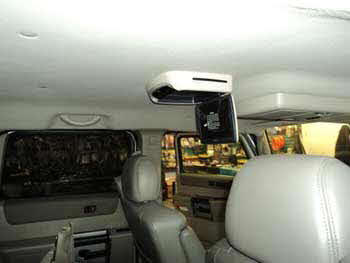 "2003 Hummer H2. Installed a JVC Double Din Navigation Receiver with Bluetooth, Audiovox 10"" Overhead Monitor and a Back-Up Camera. Designed & Installed at our Orem Store."