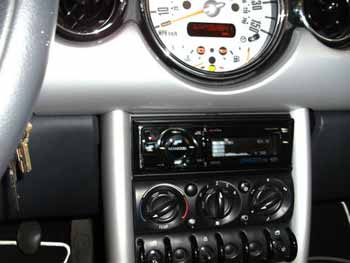 "Mini Cooper - Installed Diamond Audio component speaker system, Diamond Audio D3 6X9 co-axial speakers, Kenwood 5-channel Excelon amplifier which was specially mounted under the driver's seat in the floor, Kenwood shallow 10"" subwoffer and Kenwood Excelon AM/FM/CD player."
