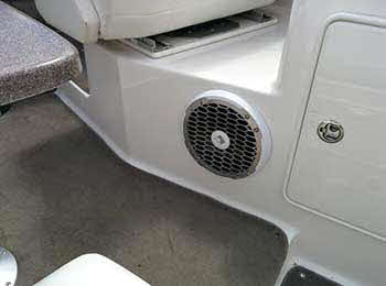 "Regal Yacht. Installed Rockford Fosgate components: 2 pr. marine 6.5"", 2 pr. marine 8"", 2 amps, 2 12"" Punch subs, 2 10"" subs and 3 Audio Control overdrives. This yacht rocks the water!"
